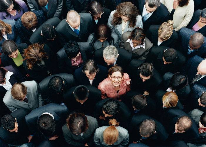 a headshot of a crowd of people
