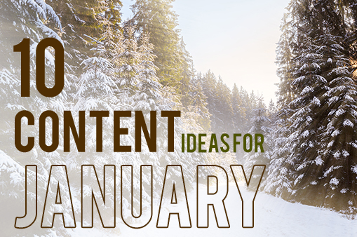 Ten content ideas for january graphic