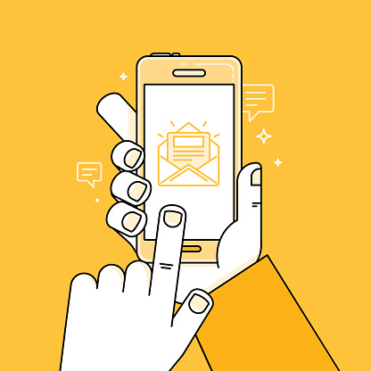 mobile email illustration