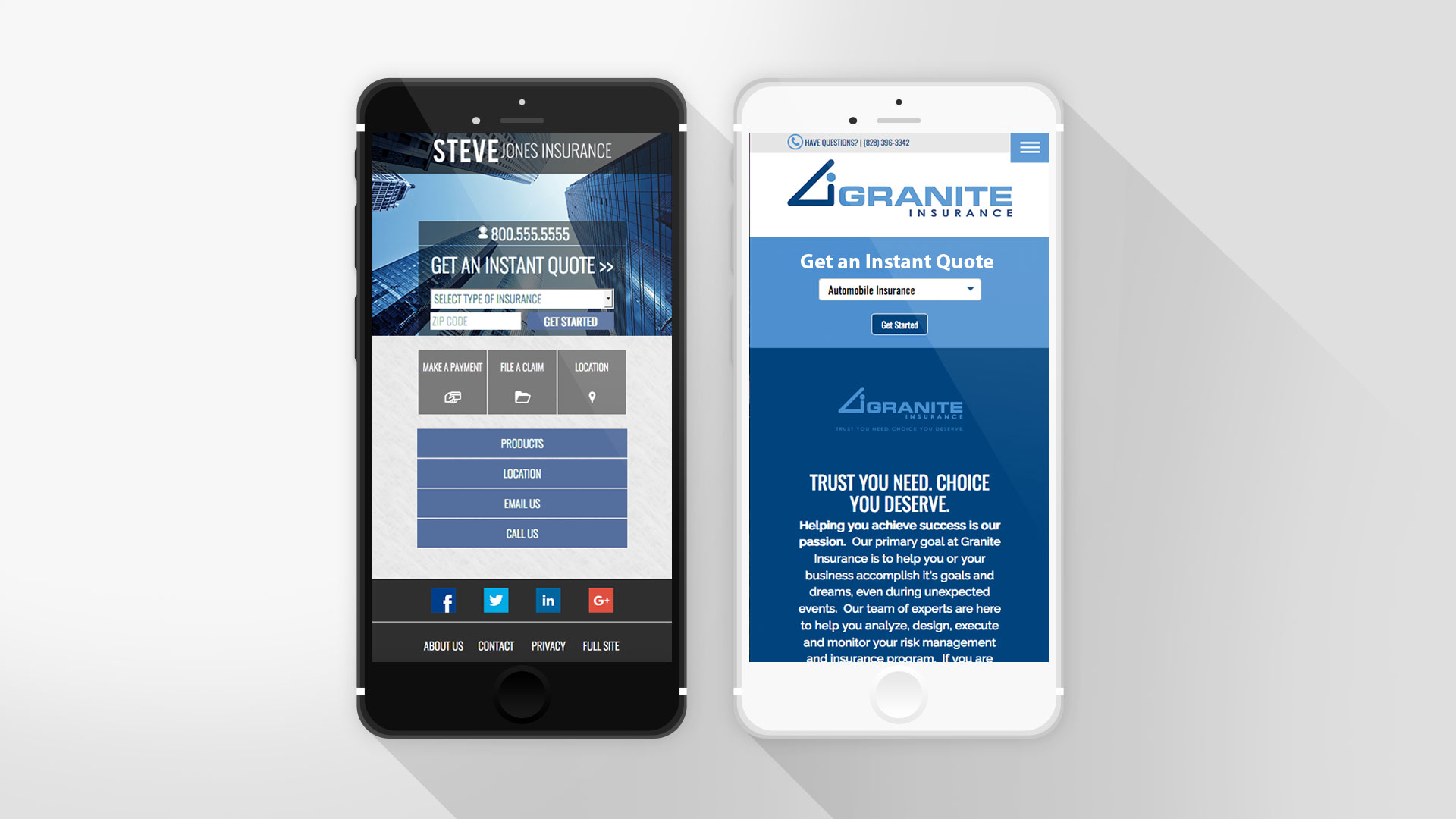 adaptive versus responsive website design on mobile device