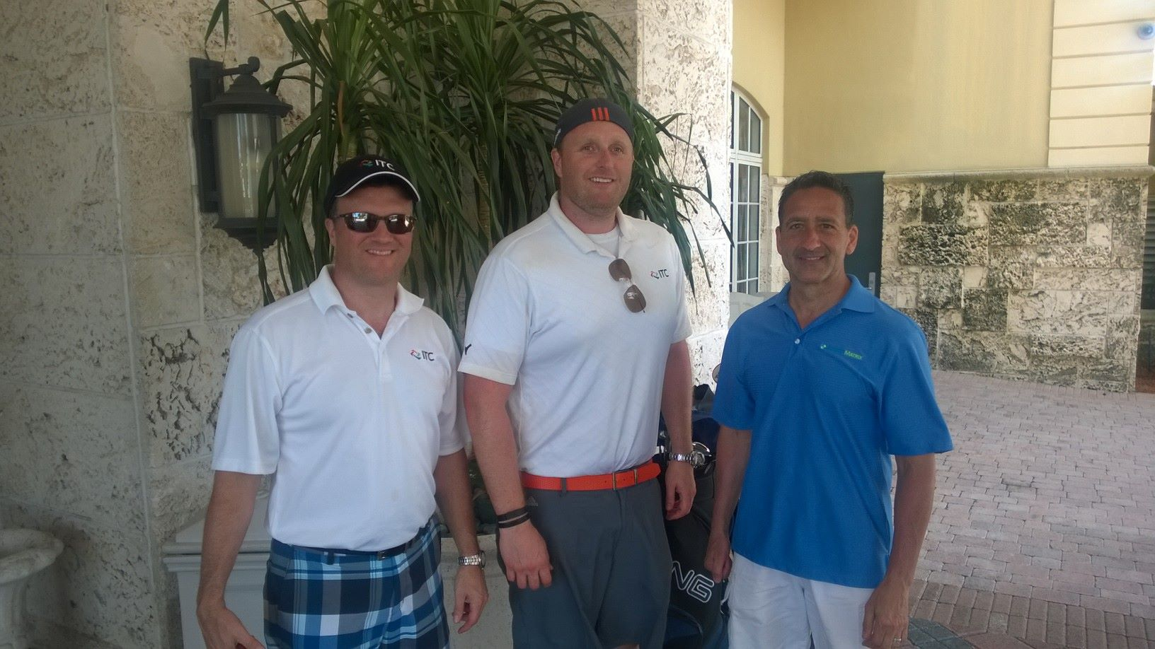 Justin Costa golfing with Laird Rixford and Daniel Ochoa